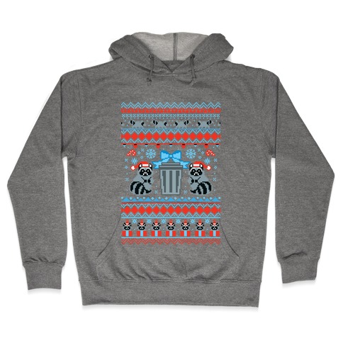 Raccoon Ugly Christmas Sweater Hooded Sweatshirt