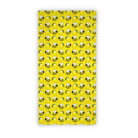 Lemon Bee Beach Towel