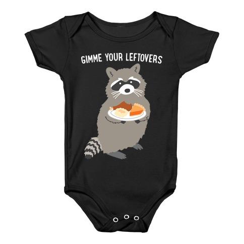Gimme Your Leftovers Raccoon Baby Onesy