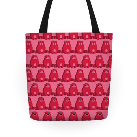 Angry Strawbeary Pattern Tote