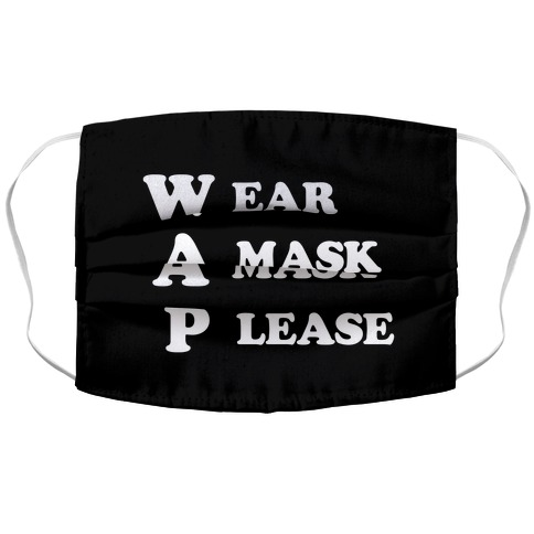 WAP Wear A Mask Please Parody Accordion Face Mask