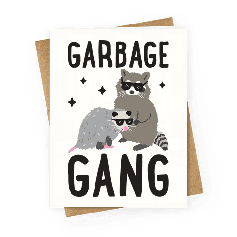 Garbage Gang Greeting Card