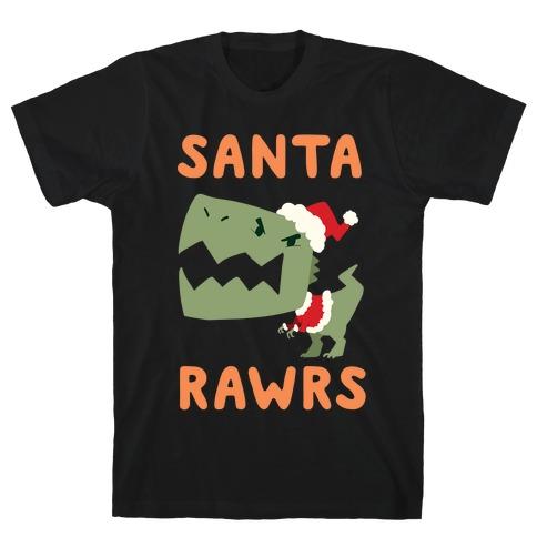 Santa RAWRS! Mens T-Shirt