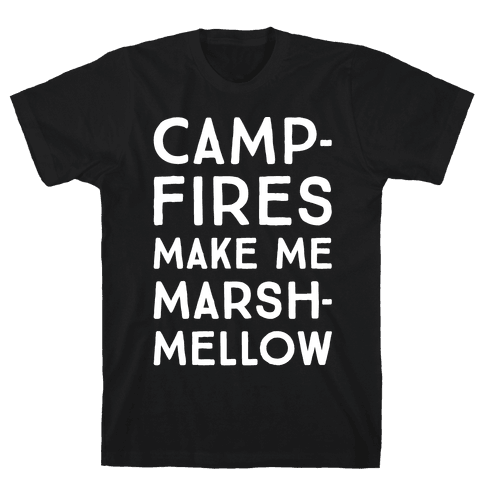 Campfires Make Me Marshmellow White Print Mens T-Shirt