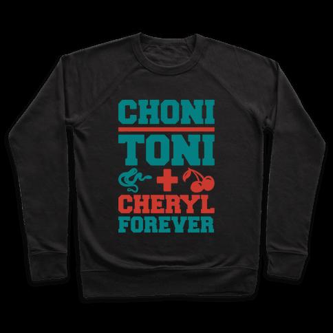 Choni Toni Plus Cheryl Forever Parody White Print Pullover