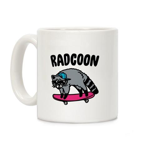 Radcoon Rad Raccoon Parody Coffee Mug