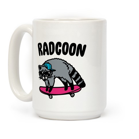 Radcoon Rad Raccoon Parody Coffee Mug