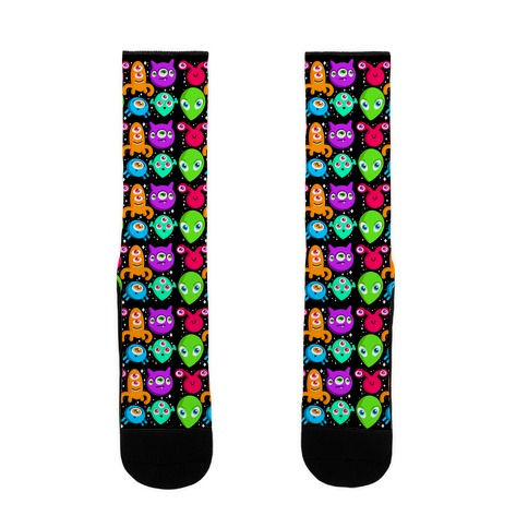Silly Aliens Pattern Sock
