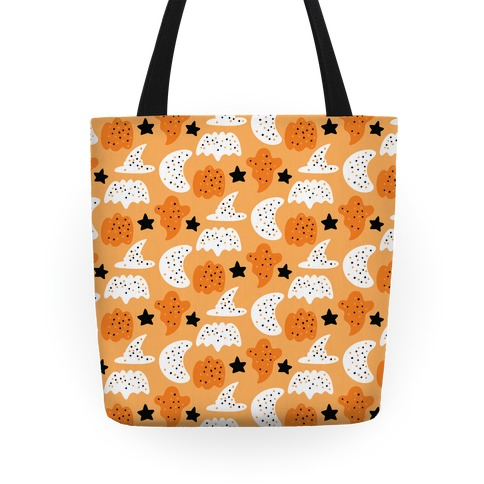 Frosted Halloween Cookies Pattern Tote