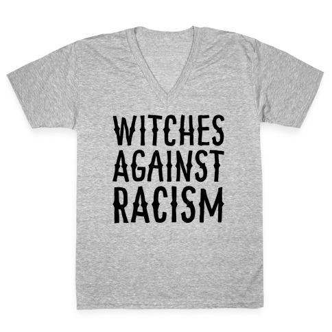 Witches Against Racism V-Neck Tee Shirt