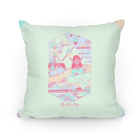 Elf Care Day Pillow