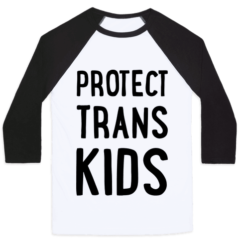 Protect Trans Kids Baseball Tee