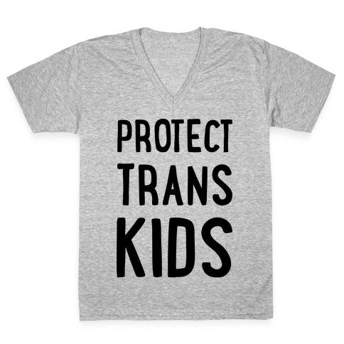 Protect Trans Kids V-Neck Tee Shirt