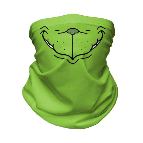 Green Christmas Monster Neck Gaiter