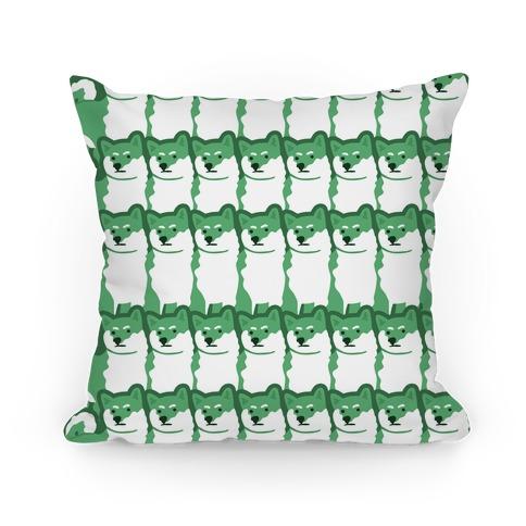 Shiba Green Hue Pillow