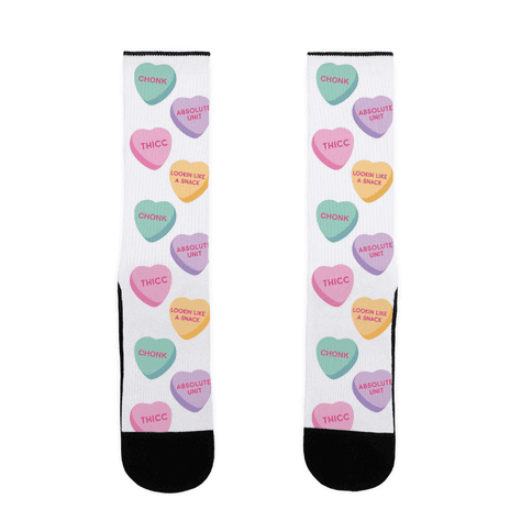 Body Positive Candy Hearts Sock