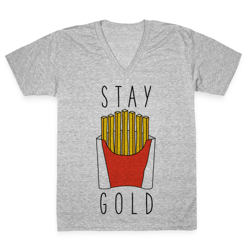 Stay Gold Fries V-Neck Tee Shirt