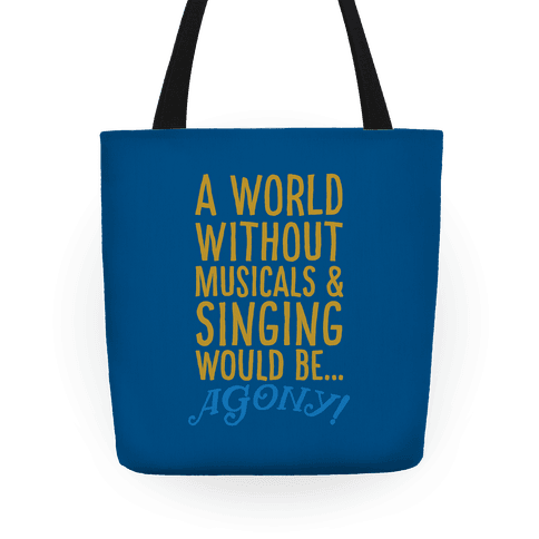 Agony Into The Woods Parody Tote