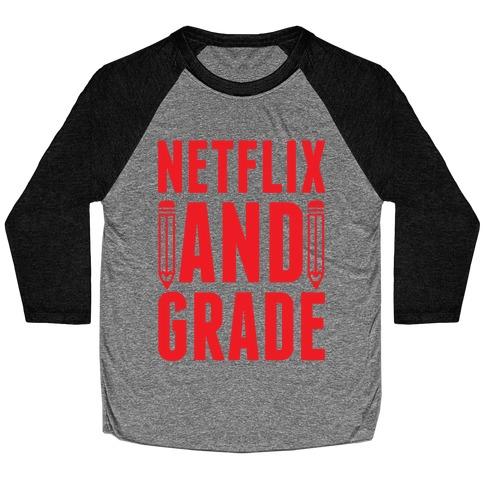 Netflix and Grade Baseball Tee