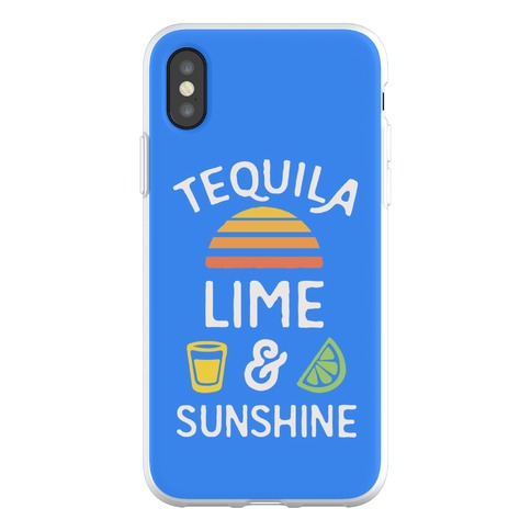 Tequila Lime And Sunshine Phone Flexi-Case