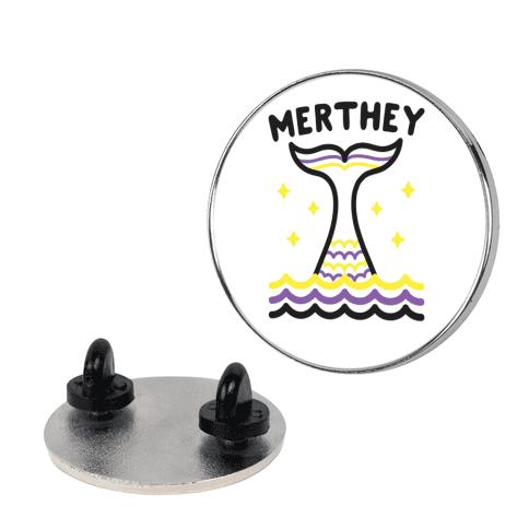 Merthey (Non-Binary Mermaid) Pin