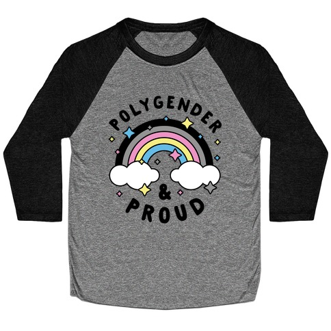 Polygender And Proud Baseball Tee