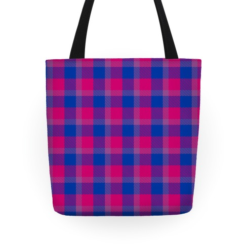 Bi Pride Flag Plaid Tote