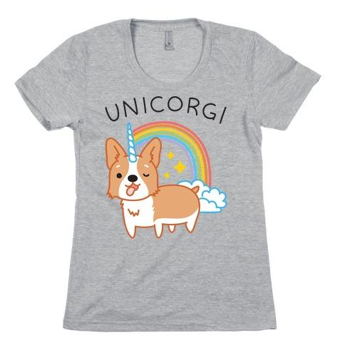 Unicorgi Corgi Unicorn Womens T-Shirt