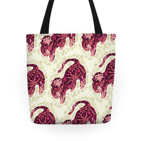 Floral Tiger Tote