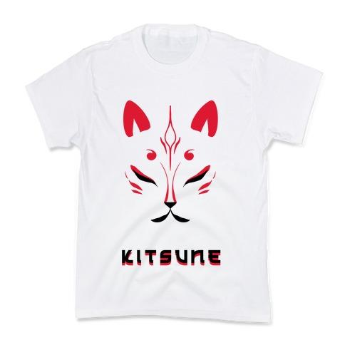 Kitsune Face Kids T-Shirt