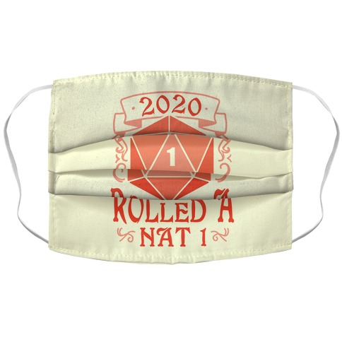 2020 Rolled A Nat 1 Accordion Face Mask