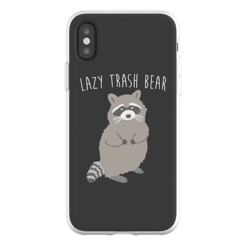 Lazy Trash Bear Phone Flexi-Case