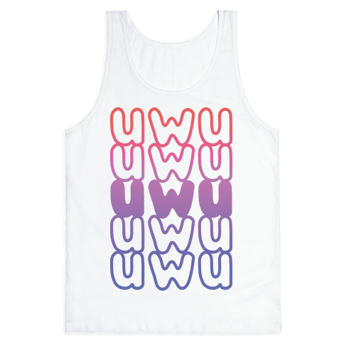 UWU Anime Emoticon Face Tank Top