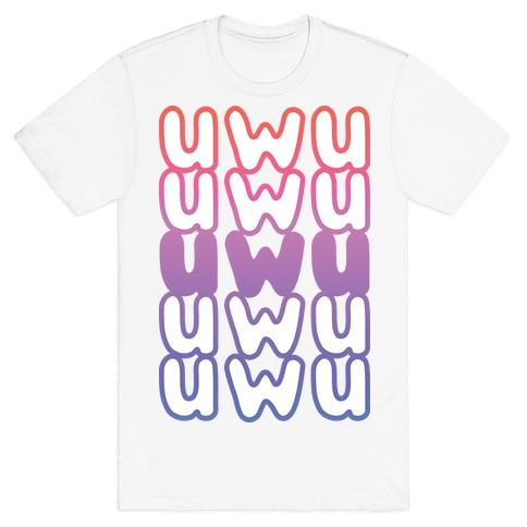 UWU Anime Emoticon Face T-Shirt