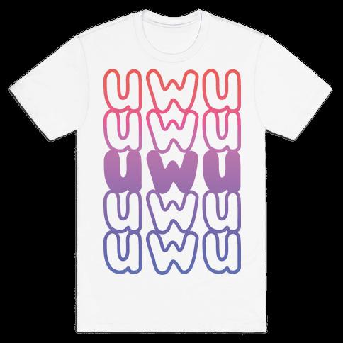 UWU Anime Emoticon Face Mens T-Shirt