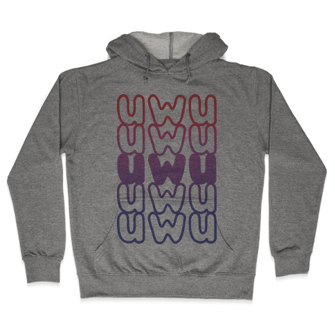 UWU Anime Emoticon Face Hooded Sweatshirt