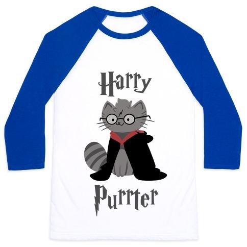 Harry Purrter Baseball Tee