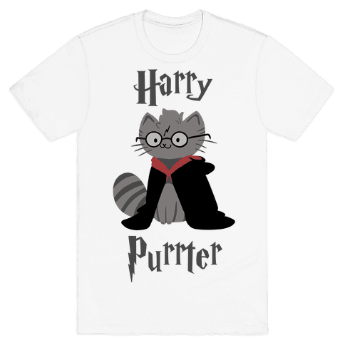 Harry Purrter Mens T-Shirt
