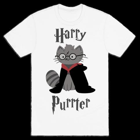 Harry Purrter Mens T-Shirt