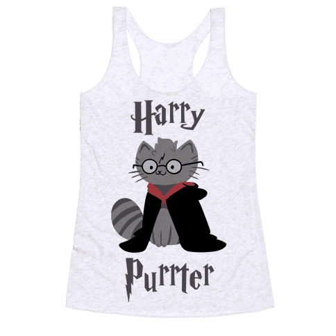 Harry Purrter Racerback Tank Top