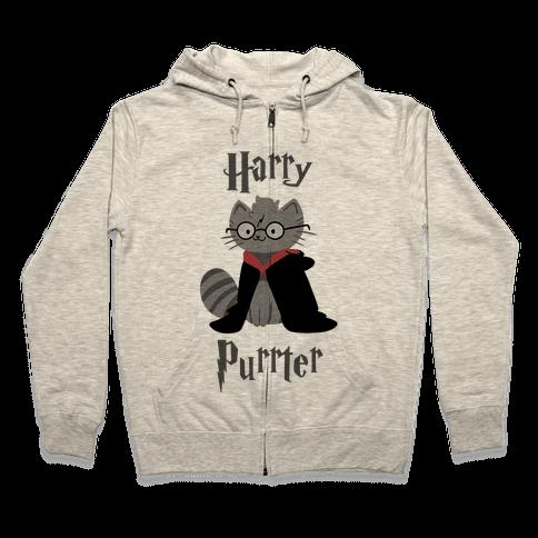 Harry Purrter Zip Hoodie