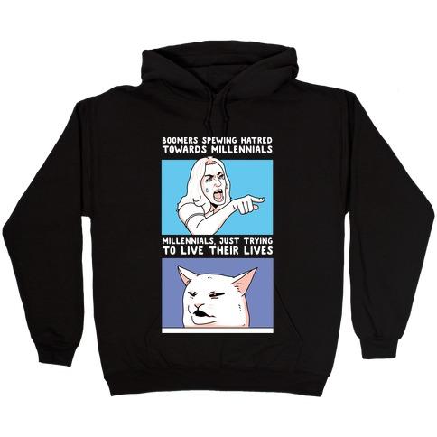 Boomers Vs. Millennials Hooded Sweatshirt