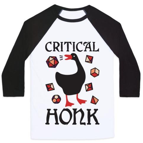 Critical Honk Baseball Tee
