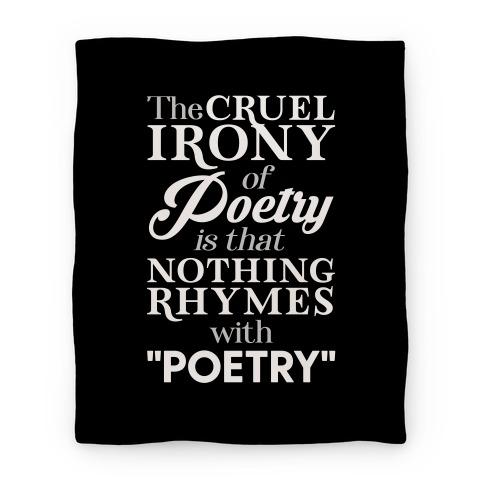 Nothing Rhymes With Poetry Blanket