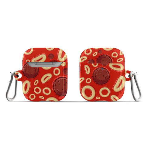 Spaghettios With Meatballs Pattern AirPod Case