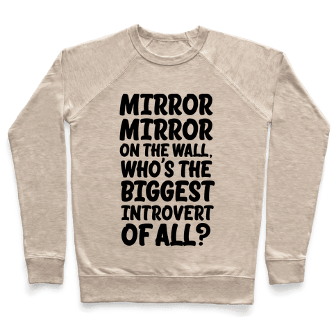 Who's the biggest introvert of all? Pullover