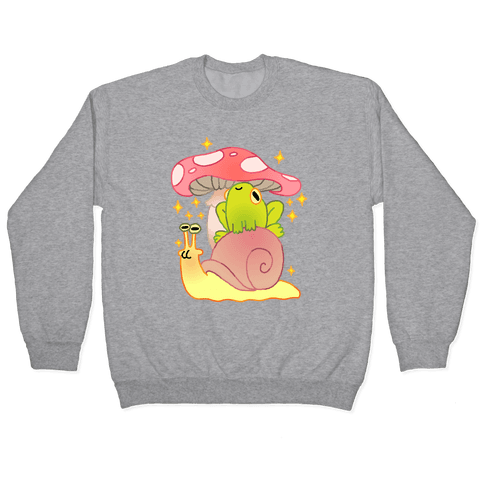 Cute Snail & Frog Pullover