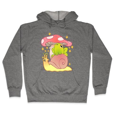 Cute Snail & Frog Hooded Sweatshirt