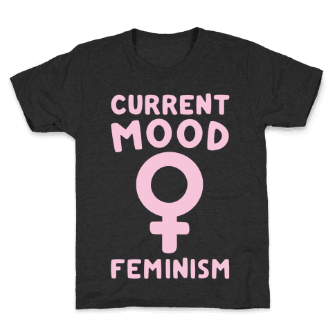 Current Mood Feminism White Print Kids T-Shirt
