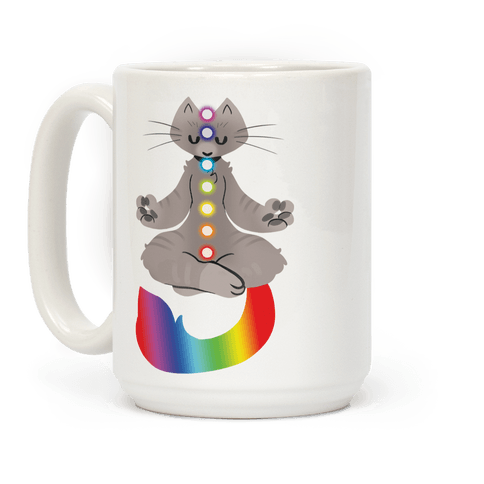 Chakra Cat Coffee Mug